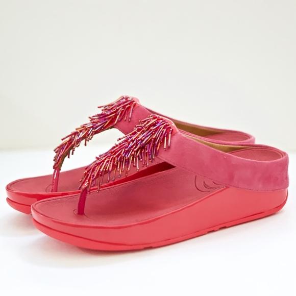 8e07034c4 FitFlop Cha Cha Passion Fruit Sandals 8